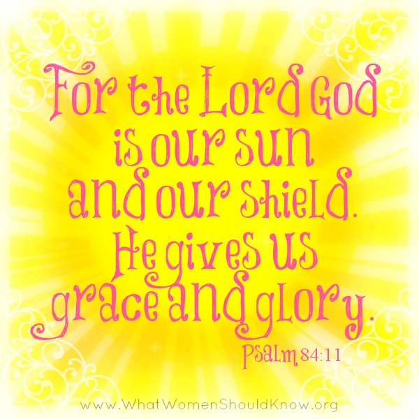The Lord is our Sun and our Shield ~ Psalm 84:11