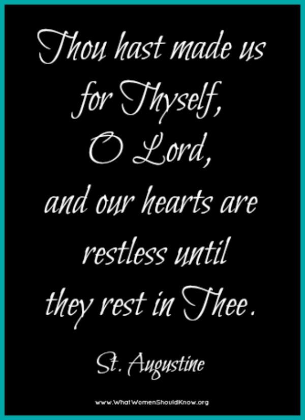 Restless Hearts - St. Augustine