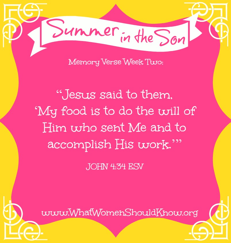 Summer in the Son Memory Verse, Week Two