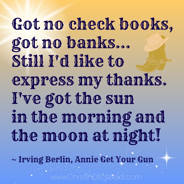 Lyric from Irving Berlin Song