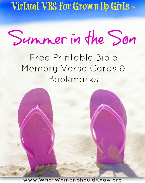 Summer in the Son: Free Printable Bible Memory Verse Cards & Bookmarks
