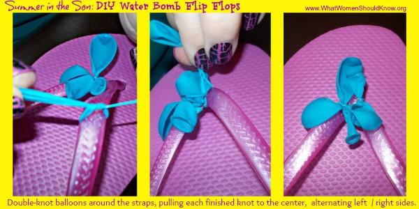 DIY Water Bomb Flip Flop Knots