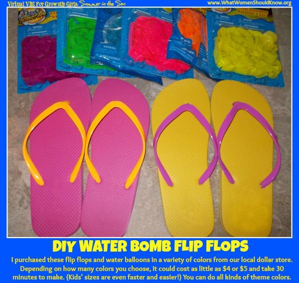 DIY Water Bomb Flip Flops