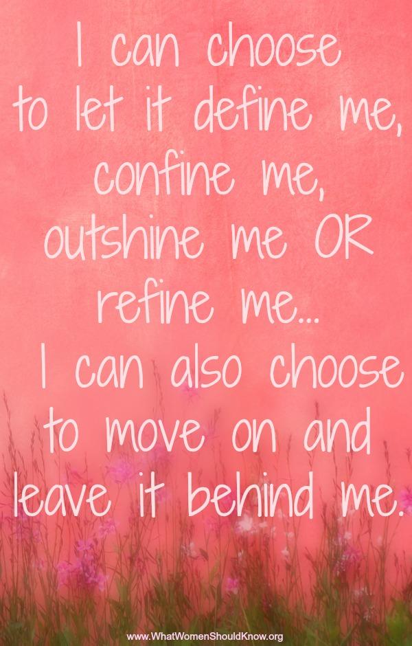 I can choose...