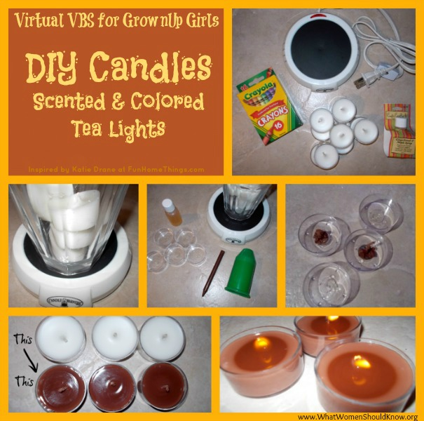 DIY Scented & Colored Candles