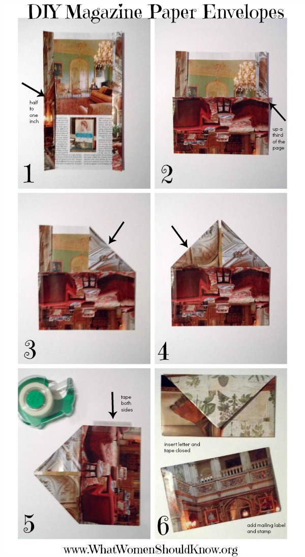 DIY Magazine Paper Envelopes