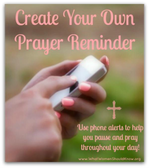 Create Your Own Prayer Reminder