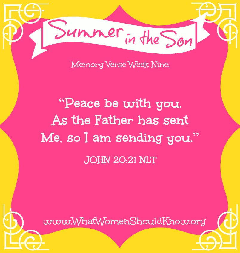Summer in the Son Memory Verse Week 9