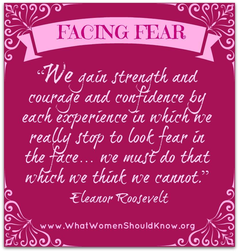 Facing Fear Eleanor Roosevelt