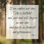 If we confess our sins...