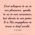 C.S. Lewis Pain Quote