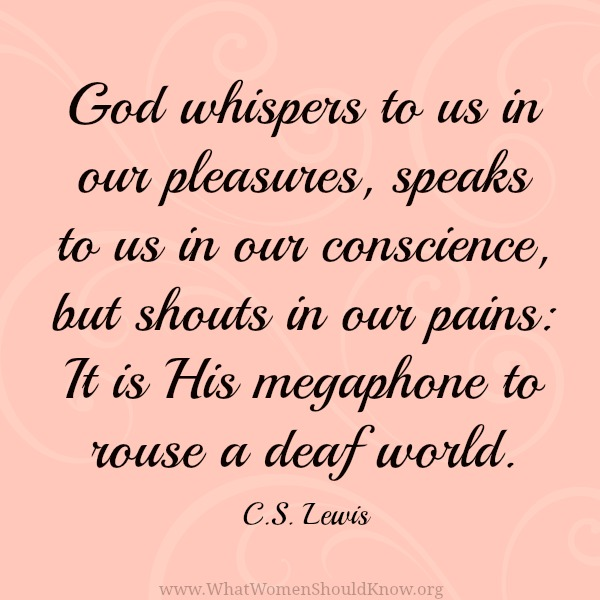 C.S. Lewis Pain Quote | Christin Ditchfield