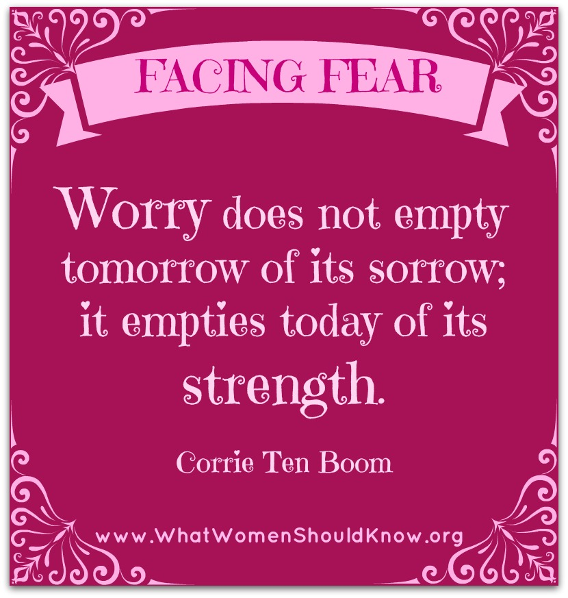Corrie Ten Boom on Worry
