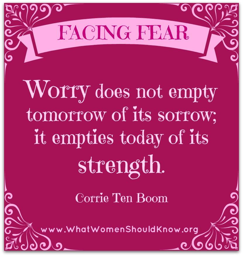 Corrie Ten Boom on Worry