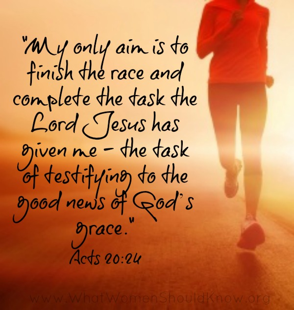 Finish the Race Acts 2024