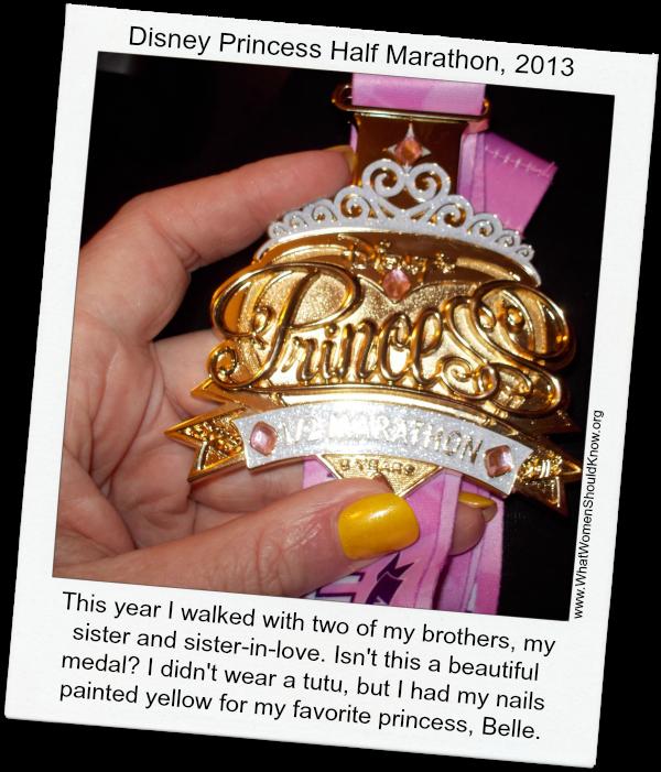 Princess Half Marathon Medal 2013