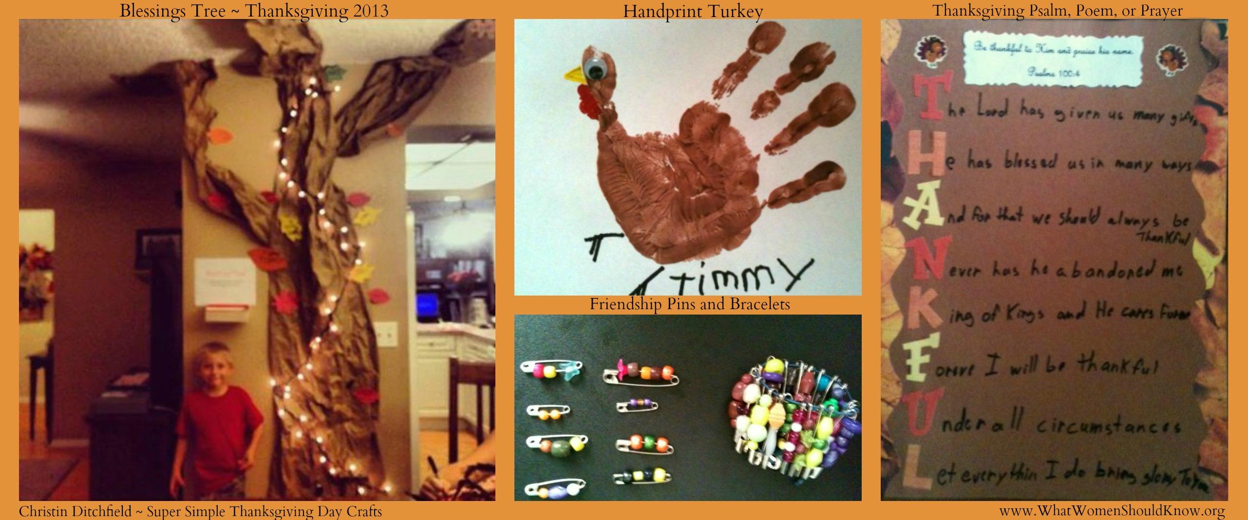 Thanksgiving Crafts Collage