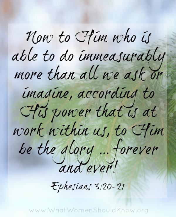 Now to Him... Ephesians 3