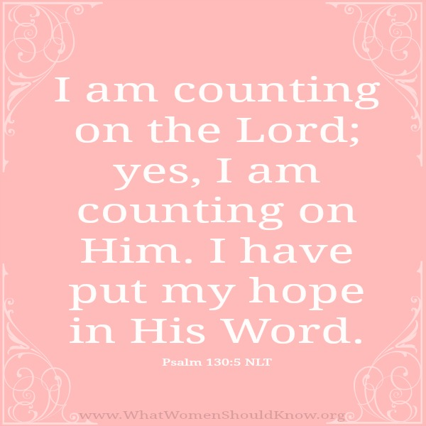 Counting on the Lord