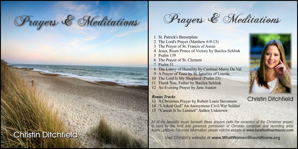 Prayers and Meditations CD Collage