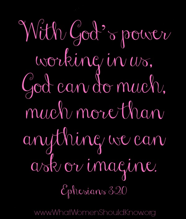 God can do much more