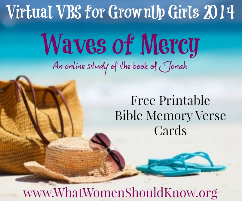 Virtual VBS Waves of Mercy Printables