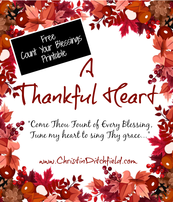 A Thankful Heart Free Printables