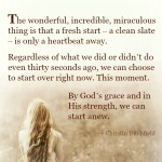 Letting It Go ~ Start Anew Christin Ditchfield Quote