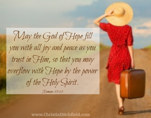 Romans 15:13 Hope Scripture Graphic