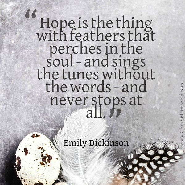 Hope Quote Emily Dickinson