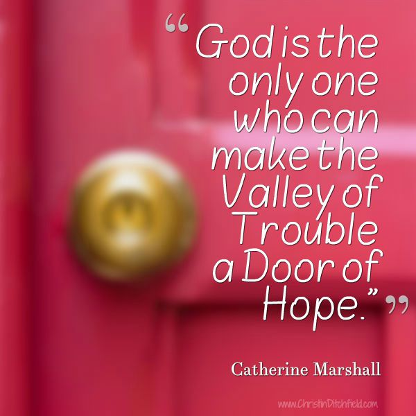 Hope Quote Catherine Marshall