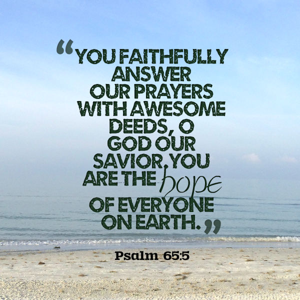 Psalm 65:5 Hope Scripture Graphic