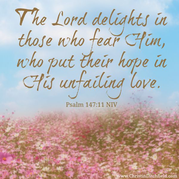 Psalm 147:11 Hope Scripture Graphic
