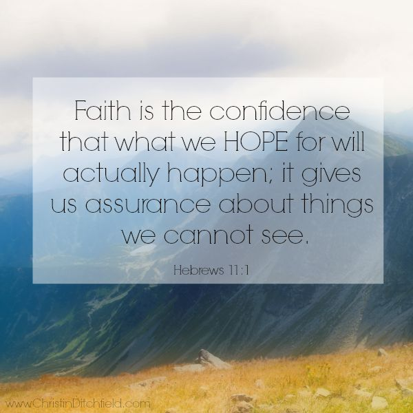 Hebrews 11:1 Hope Scripture Graphic