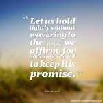 Hebrews 10:23 Hope Scripture Graphic