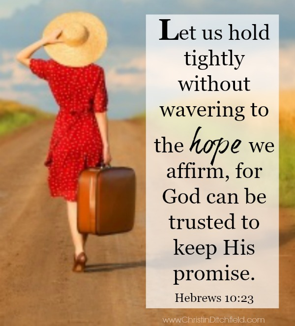 Let us hold tightly