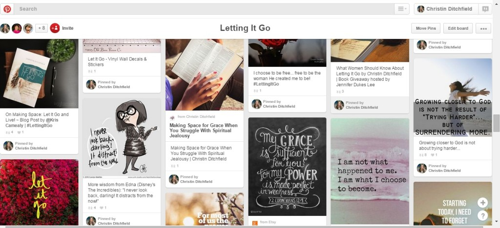 Letting It Go Pinterest Board