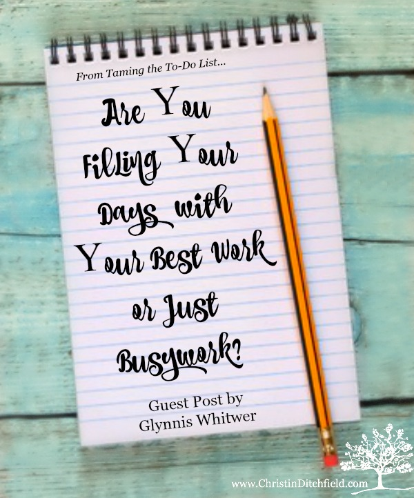 Best Work or Busywork Guest Post