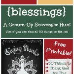 Count Your Blessings Scavenger HuntHunt