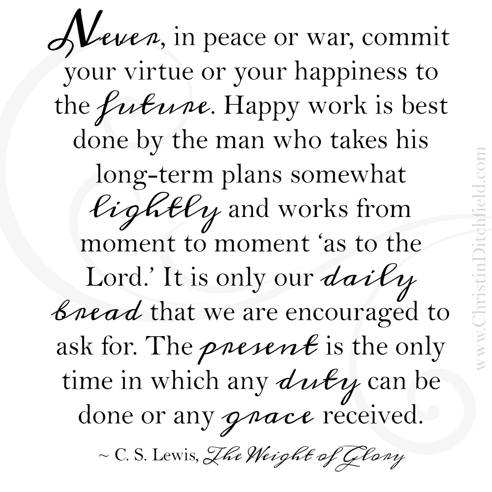 CS Lewis Weight of Glory Peace or War