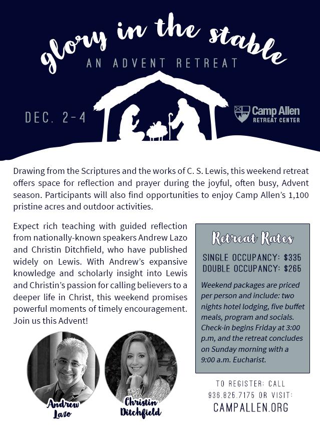 Advent Retreat Lazo Ditchfield