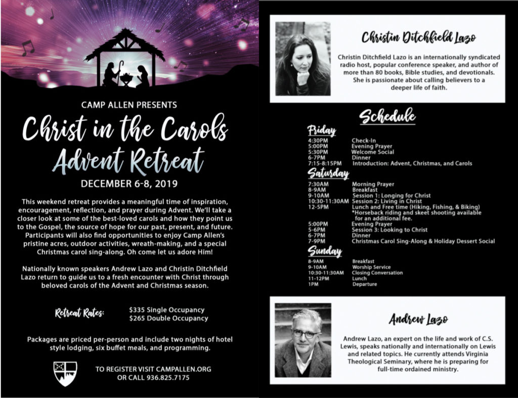Camp Allen Advent Retreat 2019 Flyer